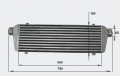 Intercooler FMIC 700 x 180 x 65mm (550 x 180 x 65mm) - výstupy 60mm