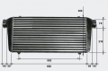 Intercooler FMIC 780 x 300 x 76mm (600 x 300 x 76mm) - výstupy 79mm